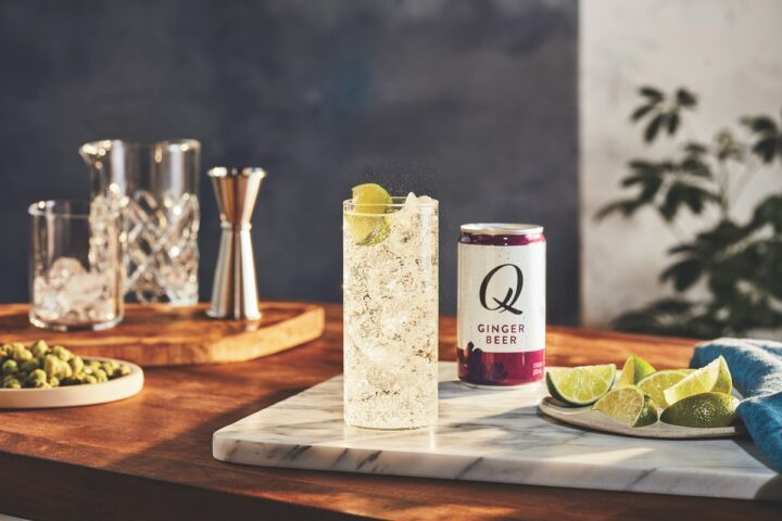 With the Covid-19 pandemic keeping people at home over the past year and a half, many are learning to be at-home bartenders with mixer brands like Q Mixers (pictured).