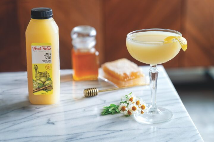 Based in San Francisco, Fresh Victor offers consumers fresh, unpasteurized blends of fruit juices. The company boasts seven flavors including its Lemon Sour (pictured), and can be found primarily on-premise and in the DTC channel, though it is beginning to enter grocery stores.