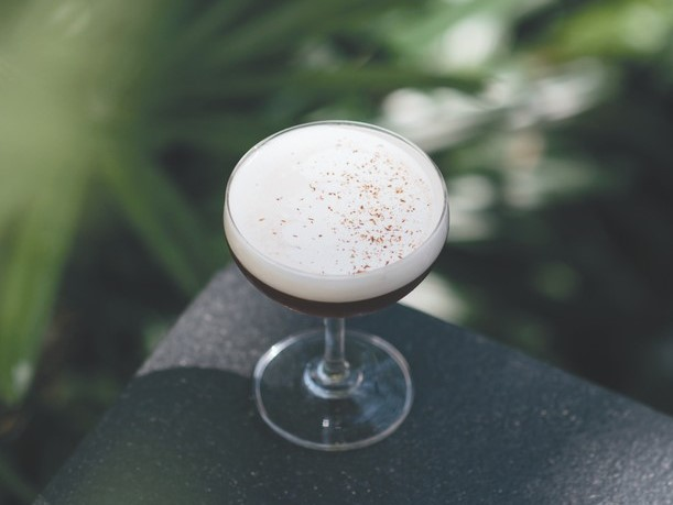 The Lavender Cold Press (pictured) at Columns in New Orleans utilizes a cold brew coffee liqueur to create a bitter drink.