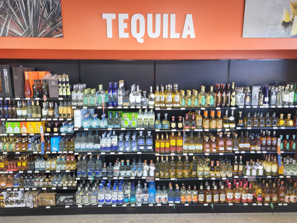 At WB Liquors & Wine in Texas (Tequila pictured), Tequila sales have risen 11% and mezcal has advanced 31% this year.