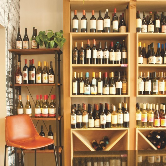 Uruguayan wines are a hand-sell even in Latin American-centric stores like Grand Cata (shelves pictured), which has two locations in Washington, D.C.