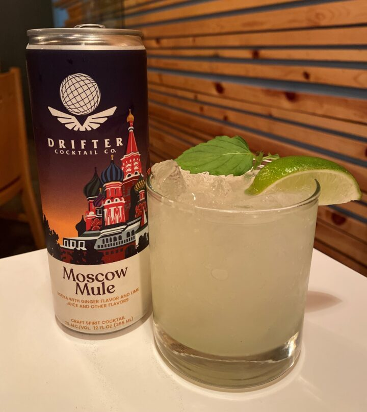 Vegas Test Kitchen in downtown Las Vegas sells Drifter Craft Cocktails RTDs (pictured) because they're easy to serve and have a long shelf life.