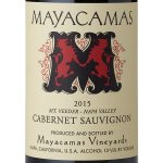 Mayacamas赤霞珠维德山2015年的标签