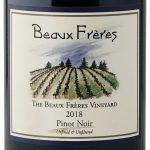 Label for Beaux Frères The Beaux Frères Vineyard Pinot Noir 2018