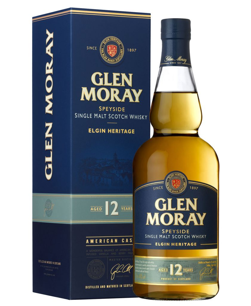 Glen Moray 12 year old, 15 year old, and 18 year old single malts