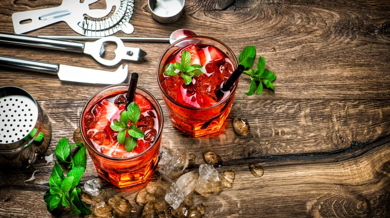 Strawberry Patch Smash [Cocktail Recipe]