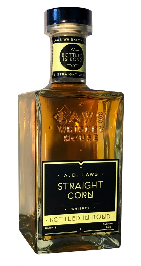 A.D. Laws Bottled in Bond Straight Corn Whiskey