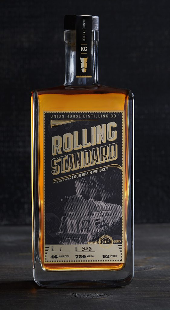 Union Horse Rolling Standard Midwestern Four Grain Whiskey