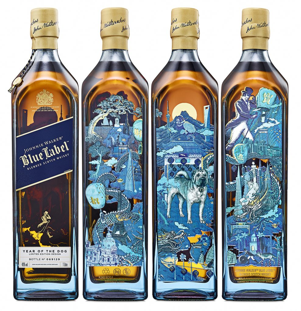 Johnnie Walker Blue Label Year of the Dog Bottling