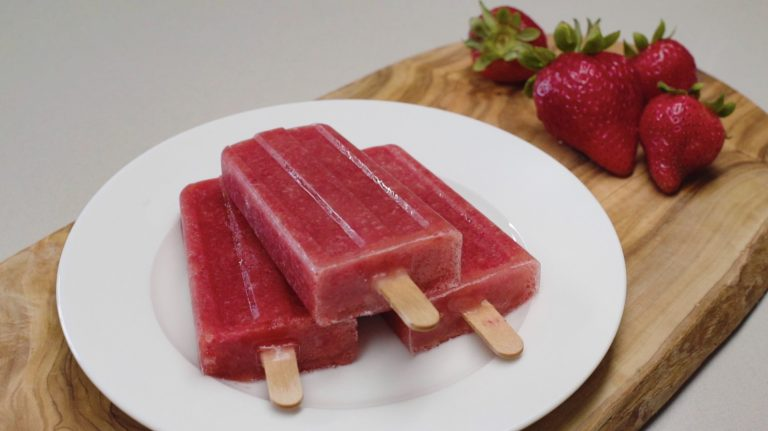 How to Make Strawberry Old Fashioned Ice Pops