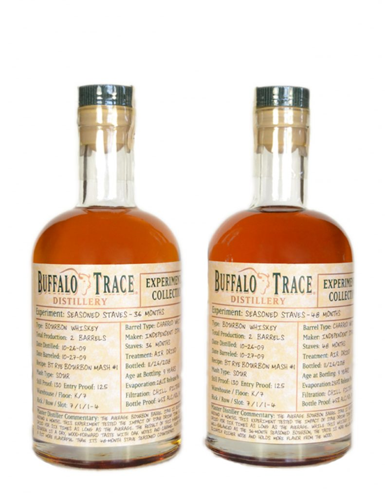 Buffalo Trace Seasoned Stave Bourbons