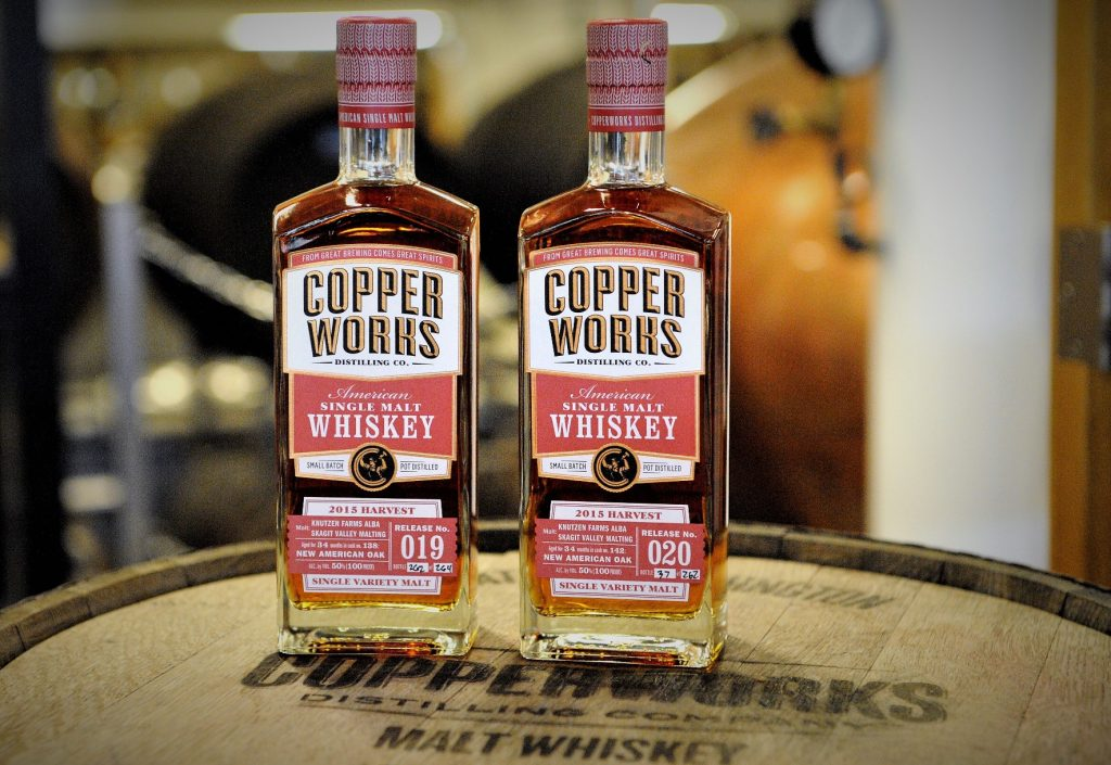 Copperworks Single Variety Malt Whiskey (Releases 019 and 020)