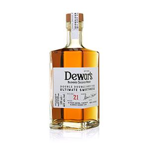 dewars double double 21 year old bottle