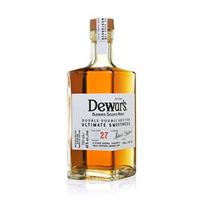 dewars double double 27 year old bottle