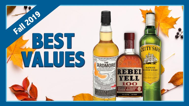 Fall 2019 Best Values: Cutty Sark, Rebel Yell & Ardmore