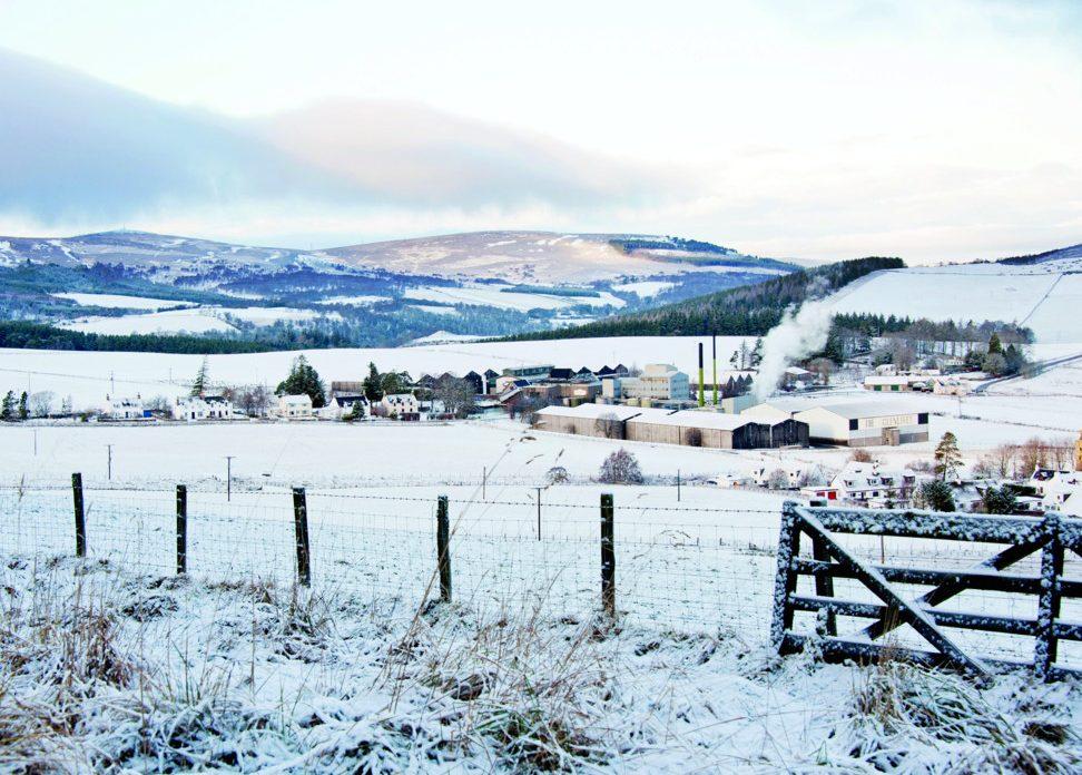 glenlivet estate covered in snow