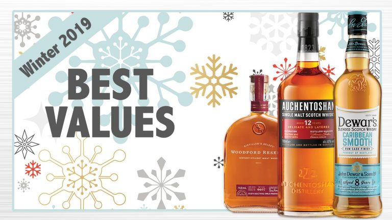 Winter 2019 Best Values: Dewar's, Woodford Reserve, Auchentoshan