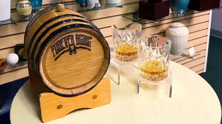You Can Age Forever With Your Favorite Whisky Thanks to This Bourbon Barrel Urn