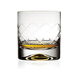 The Mofado Premium whisky glass is shown holding about an ounce of whisky.