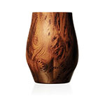 The Brümate Nos'r Insulated whisky glass is opaque, with a woodgrain-style finish.