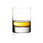 The Schott Zwiesel Tritan Crystal glass is shown with about an ounce of whisky in it.