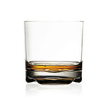 The Lily's Home Unbreakable whisky glass is shown with about an ounce of whisky in it.