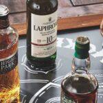 Single malt scotches arranges on a Venn diagram according to flavor profile