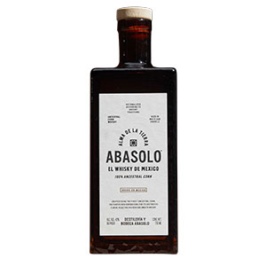 Abasolo 100% Ancestral Corn Whiskey bottle.