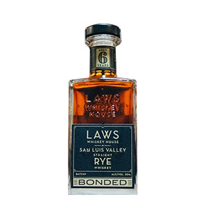 Laws Whiskey House 6 year old San Luis Valley Bottled in Bond Rye