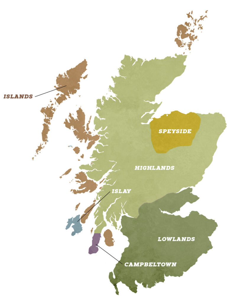 map of scotch whisky regions