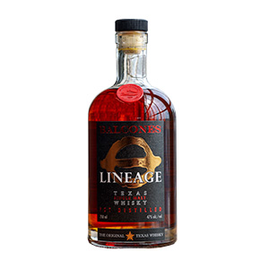 Balcones Lineage Texas (Batch SML 20-2) bottle.