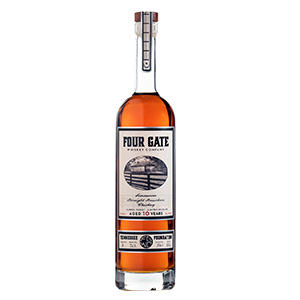 Four Gate 10 year old Tennessee Foundation Straight bottle.