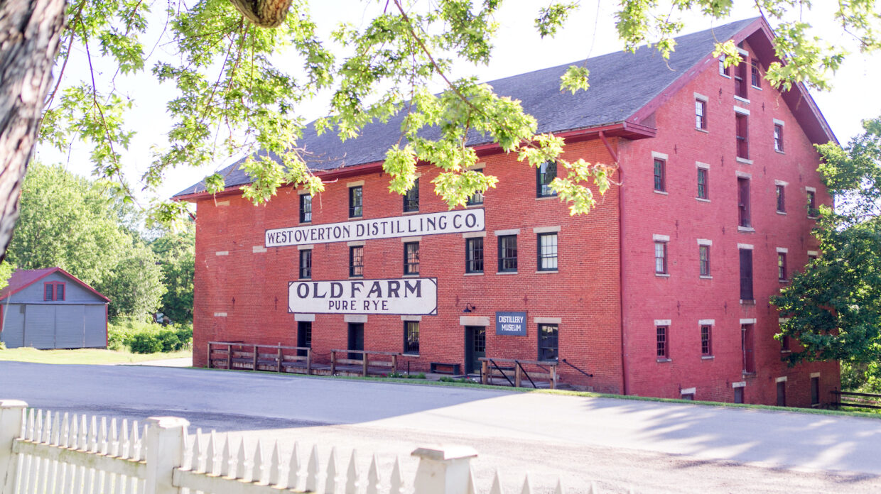 historic West Overton Distilling Co. brick building in Pennsylvania