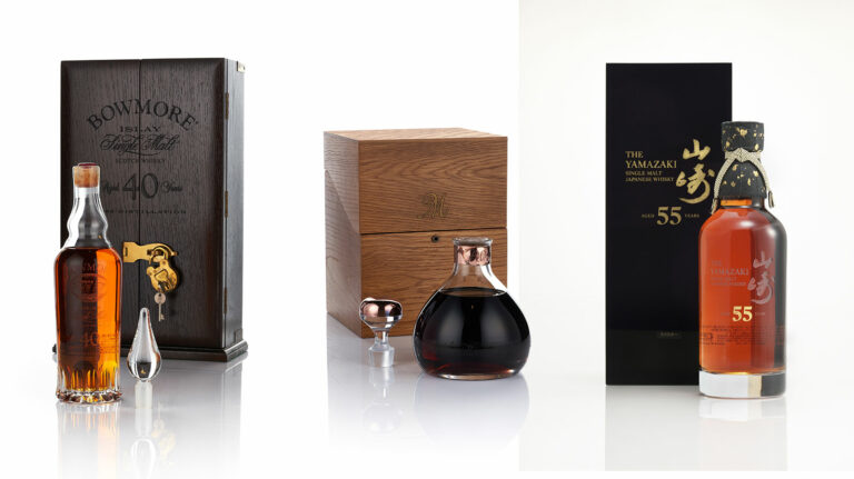 Three whisky lots from Bonhams, Hong Kong August 2020 auction: Bowmore, Macallan, and Yamazaki