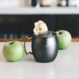 The Bardstown Mule at Bardstown Bourbon Co.'s Bottle & Bond Kitchen and Bar, with green apples