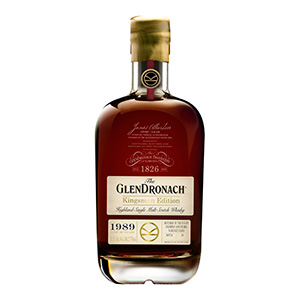 GlenDronach Kingsman Edition 1989 Vintage bottle.