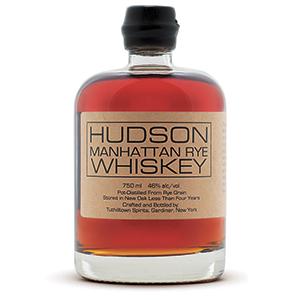 Hudson Manhattan Straight Rye (Batch 5) bottle shot.