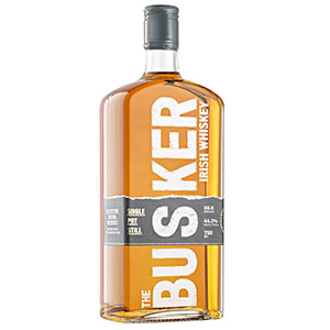 The Busker Single Pot Still bottle.