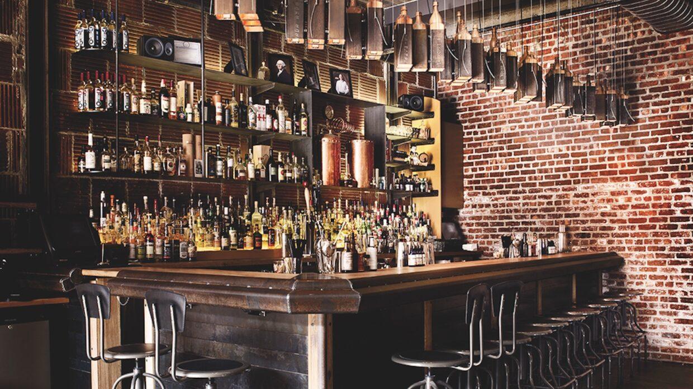 The Shanty bar at New York Distilling Co. in Brooklyn, NY