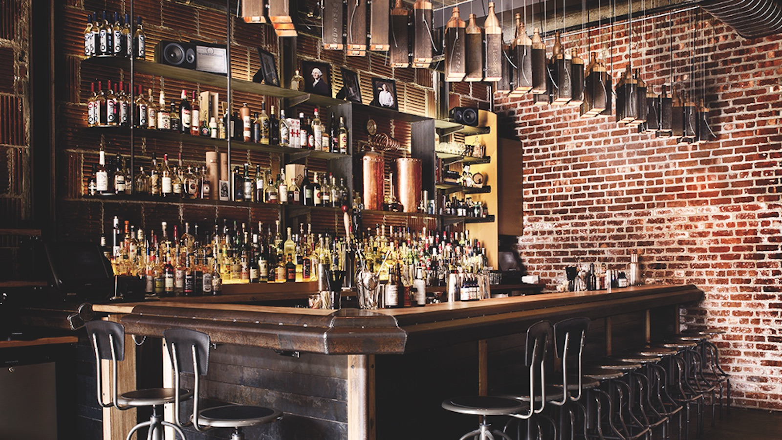 The Shanty bar at New York Distilling Co. in Brooklyn, NY