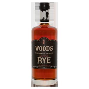 Wood's 2 year old Alpine Rye (Batch 16) bottle shot.