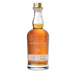 Balvenie 50 year old bottle