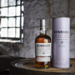 Benriach The Smoky Twelve single malt scotch in a cask warehouse