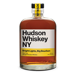 Hudson Bright Lights, Big Bourbon New York Straight bottle.