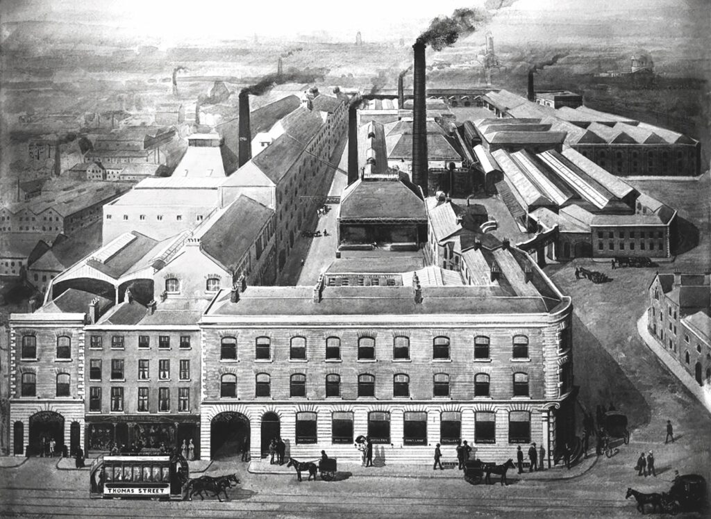 historic image of the John Power and Son Distillery in Dublin