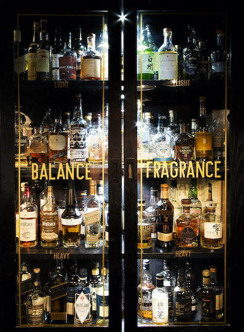 balance and fragrance whisky cupboard at the Black Rock bar in London
