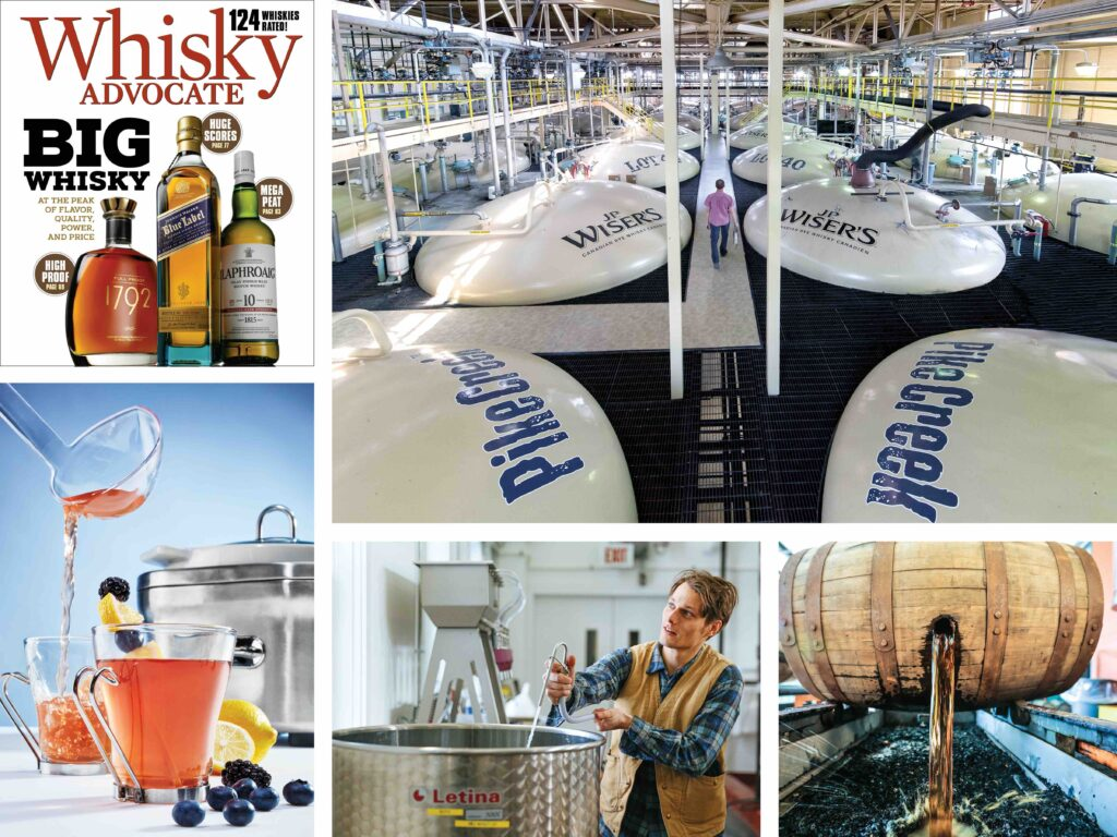 collage of images from the Fall 2020 issue of Whisky Advocate