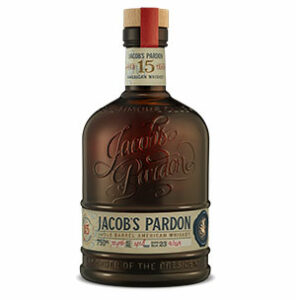 Jacob's Pardon 15 year old Single Barrel American Whiskey (No. 23) bottle.