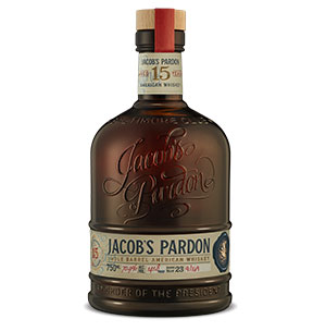 Jacob's Pardon 15 year old Single Barrel American Whiskey (No. 37) bottle.