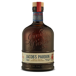 Jacob's Pardon 8 year old Small Batch American Whiskey (Batch 01) bottle.